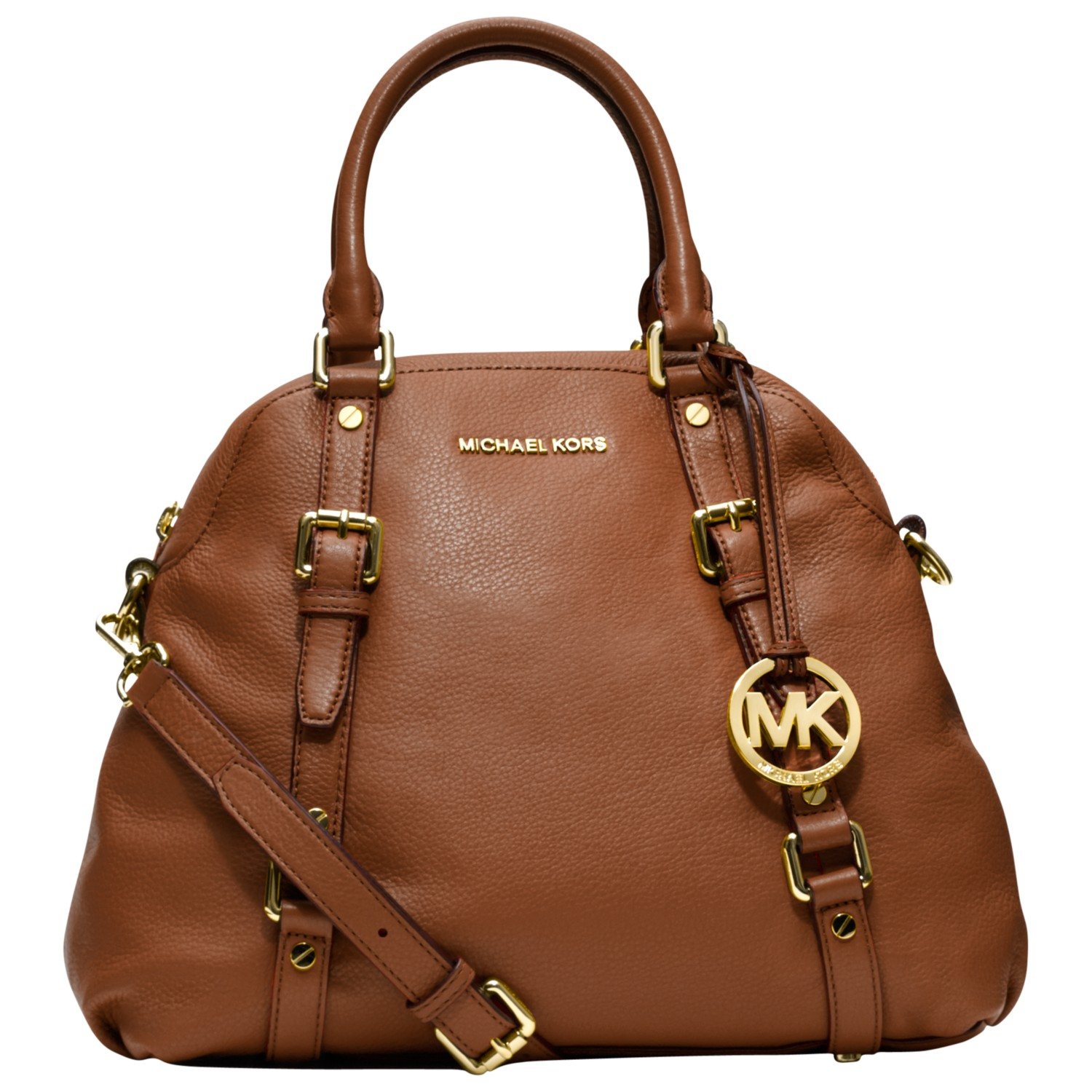 michael michael kors bedford leather bowling bag in brown. Black Bedroom Furniture Sets. Home Design Ideas