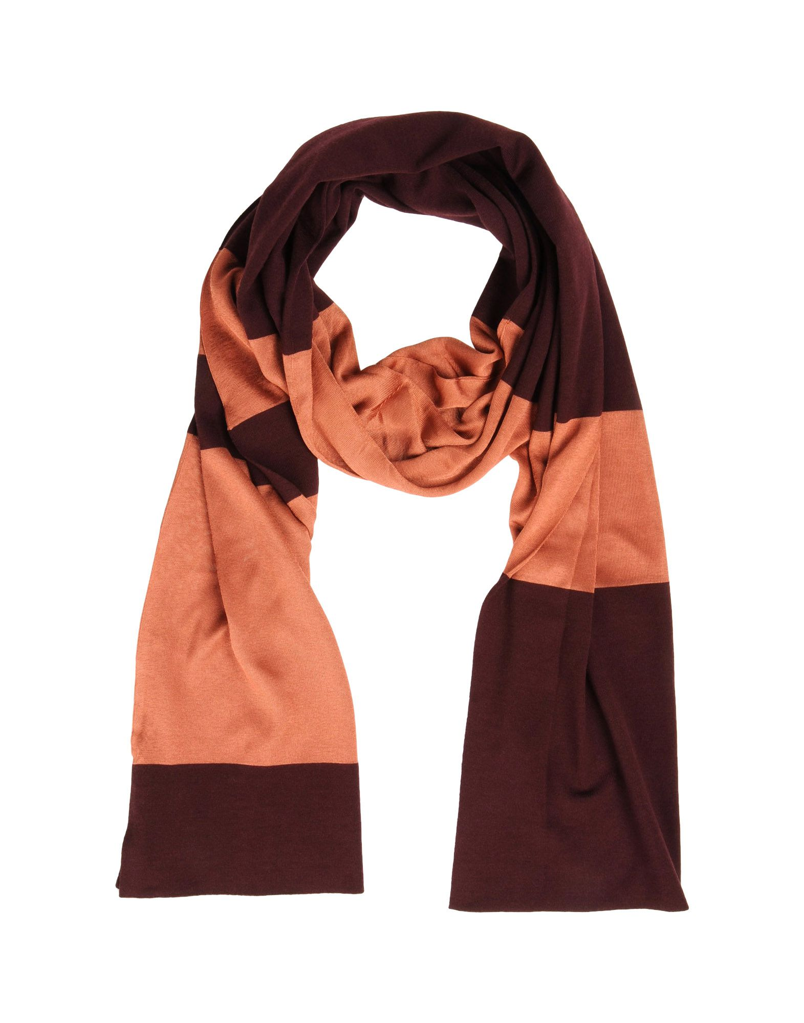 pringle of scotland oblong scarf in purple purple