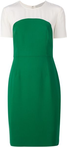 Stella McCartney Contrast Short Sleeve Dress - Lyst