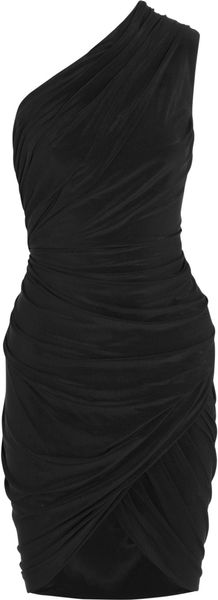 Alexander Wang Asymmetric Ruched Stretchjersey Dress - Lyst