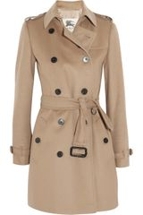 Burberry Midlength Wool and Cashmere blend Trench Coat - Lyst