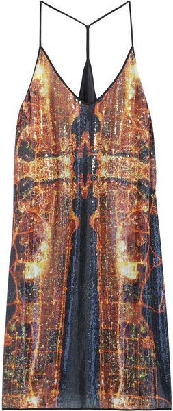 Clover Canyon Dubai in The Sky Sequined Dress - Lyst