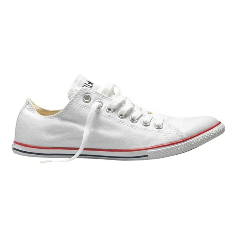 1802d7ec897e ... reduced converse chuck taylor all star slim ox trainers in white for men  lyst 0e675 053fa