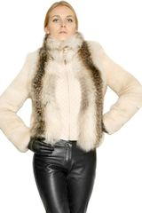 Ferragamo Quilted Nappa Mink and Fox Fur Jacket - Lyst