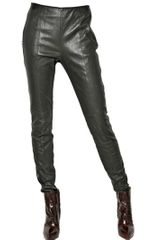 Maison Martin Margiela Stretch Nappa Leather Trousers - Lyst