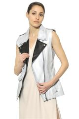 Maison Martin Margiela Painted Smooth Leather Vest - Lyst