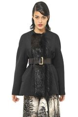 Marni Beaver and Wool Felt Jacket - Lyst