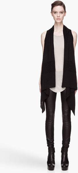 Rick Owens Level Basic Wrap Vest - Lyst