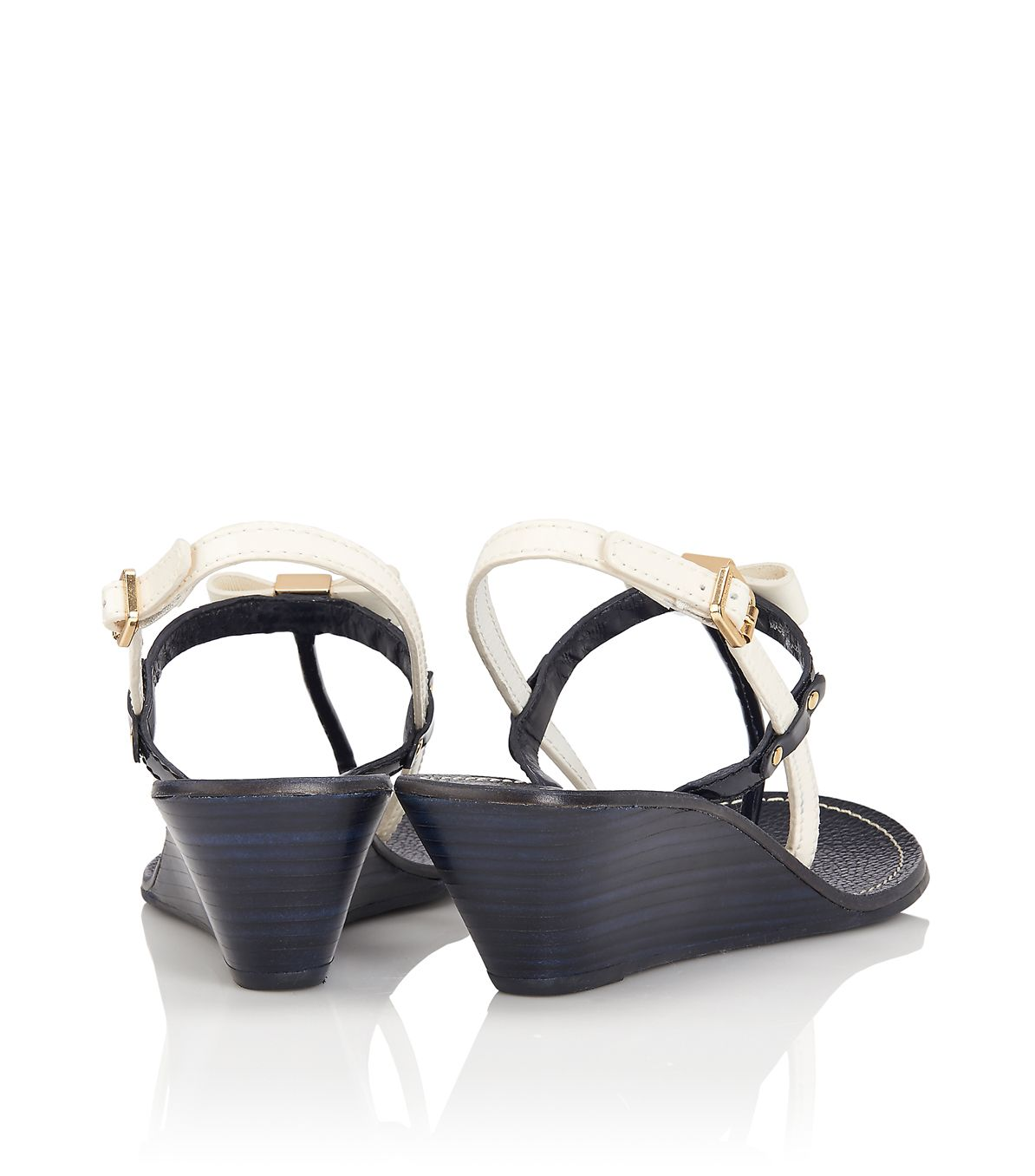 6d248ed2e975 Lyst - Tory Burch Kailey Wedge Thong Sandal in Black