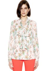 Tory Burch Bryce Bow Blouse - Lyst