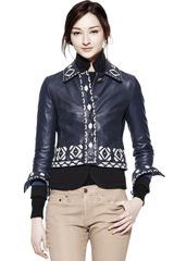 Tory Burch Leather Brianna Jacket - Lyst
