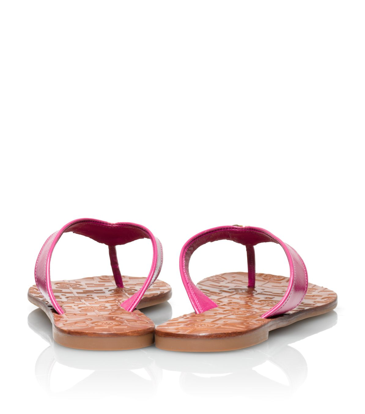 74ec354eecb ... ebay lyst tory burch patent leather thora sandal in pink 85dad fc452