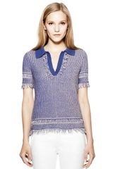 Tory Burch Brielle Sweater Polo - Lyst