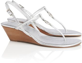 Tory Burch Metallic Emmy Demi Wedge - Lyst