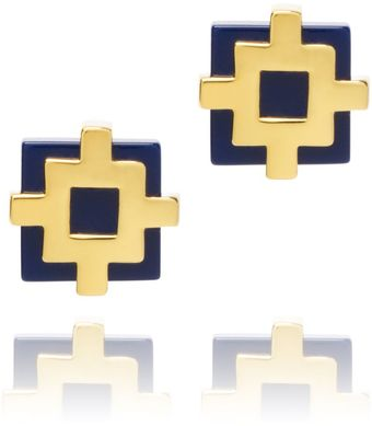 Tory Burch Carson Perforated Stud Earring - Lyst