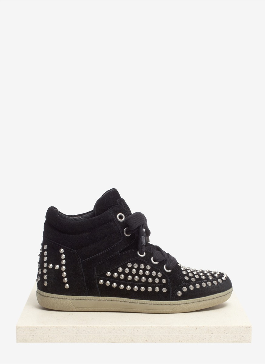 Lyst Ash Lolita Concealed Wedge Trainers In Black