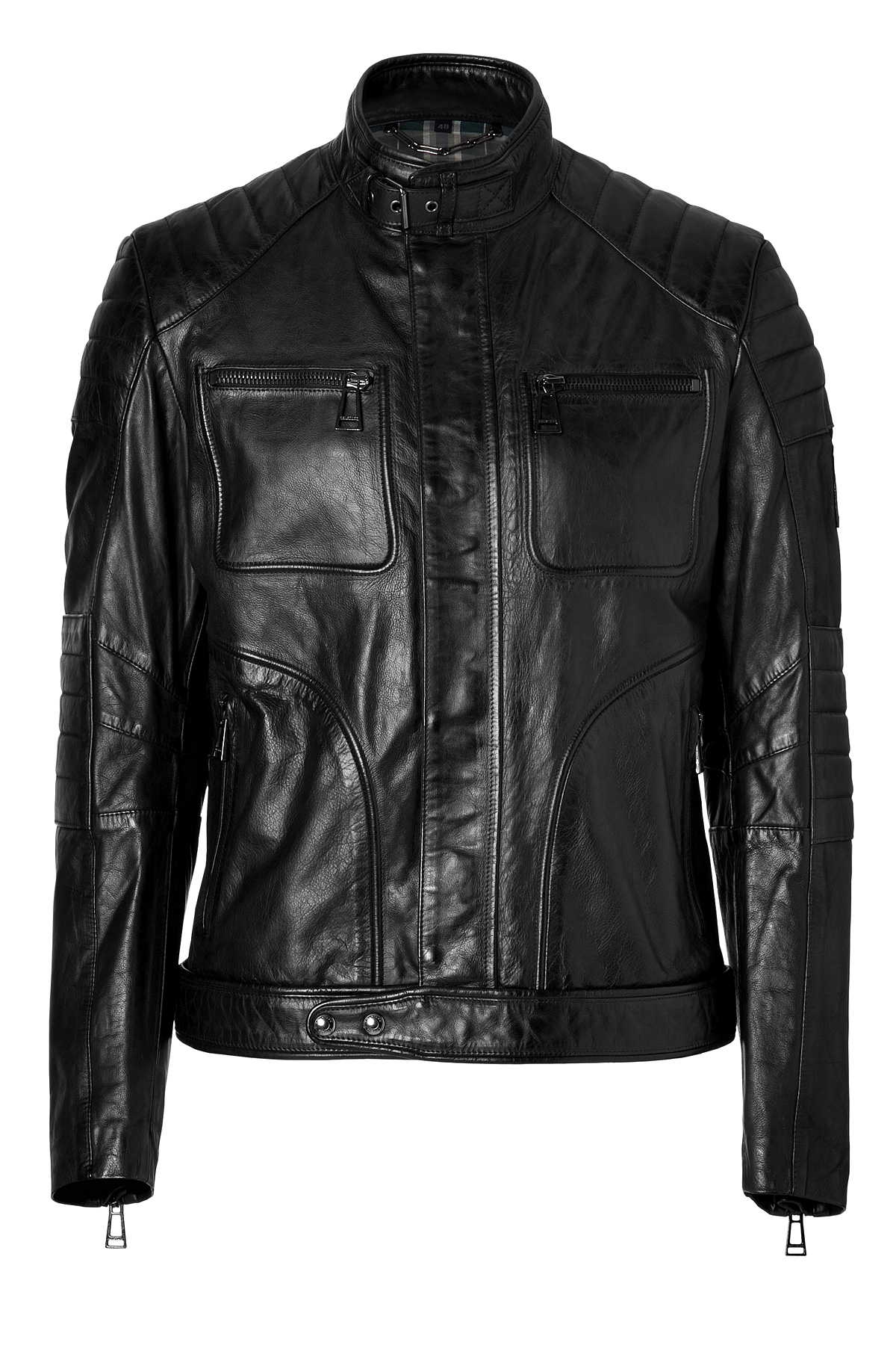 belstaff leather weybridge jacket in black in black lyst. Black Bedroom Furniture Sets. Home Design Ideas