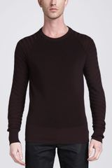 Belstaff Crewneck Moto Sweater Rose Wood - Lyst