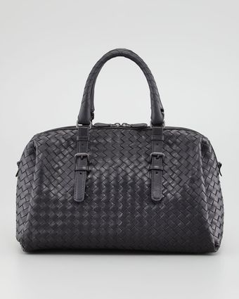 Bottega Veneta New Boston Medium Tophandle Bag Black - Lyst