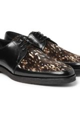 Burberry Prorsum Printed Pony-skin and Leather Derby Shoes - Lyst