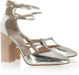 Chloé Metallic Leather Pumps - Lyst