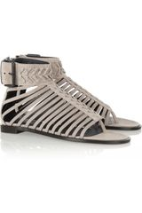 Haider Ackermann Washed Leather Gladiator Sandals - Lyst