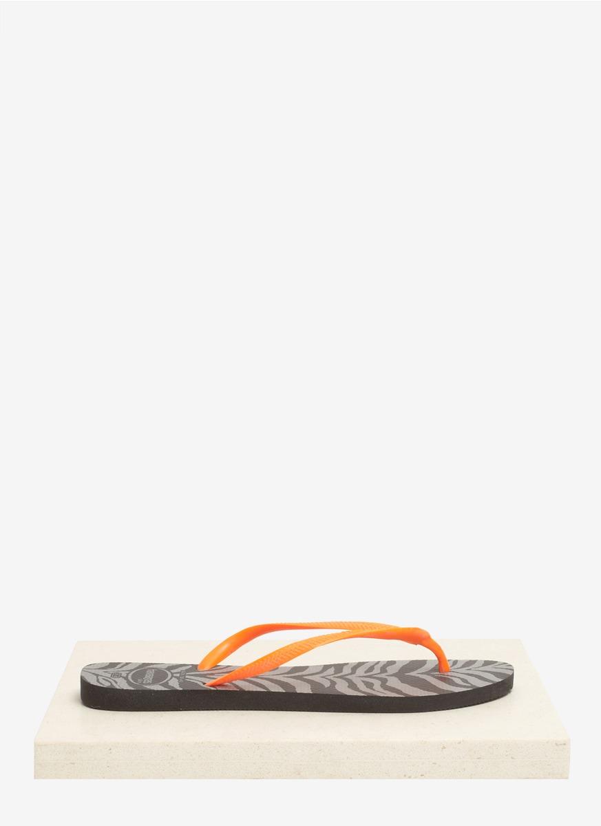 240f9a191e9e Lyst - Havaianas Slim Animals Fluo Flip-flops in Orange