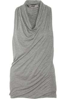 Helmut Lang Draped Jersey Top - Lyst