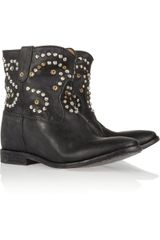 Isabel Marant The Caleen Studded Leather Concealed Wedge Boot - Lyst