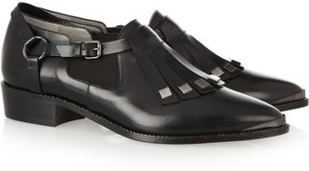 Karl Lagerfeld Fringed Leather Brogues - Lyst
