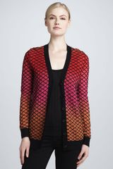 M Missoni Horizon Stripe Cardigan - Lyst