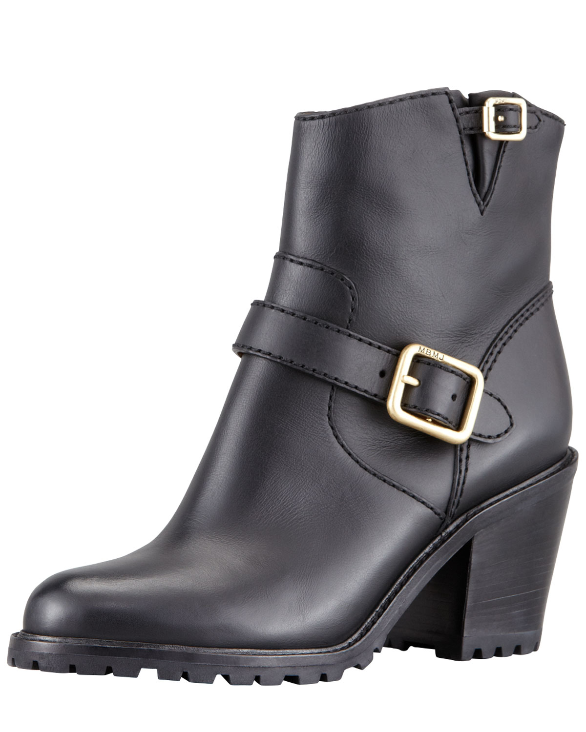 Marc by marc jacobs Womens Buckled Bloch-heel Motorcycle Boot ...