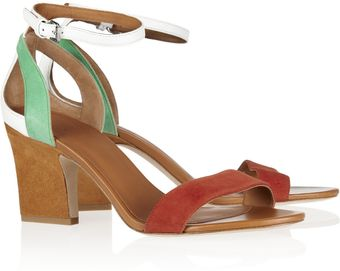 Marc By Marc Jacobs Colorblock Suede and Leather Sandals - Lyst