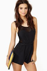 Nasty Gal Rebel Heart Romper - Lyst