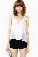 Nasty Gal Sheer Illusion Tank - Lyst