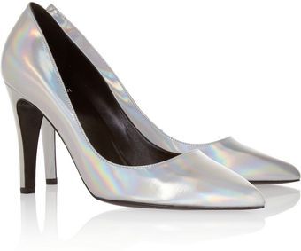 Pierre Hardy Holographic Leather Pumps - Lyst