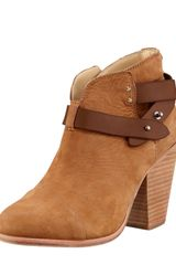Rag & Bone Harrow Nubuck Ankle Boot Camel - Lyst