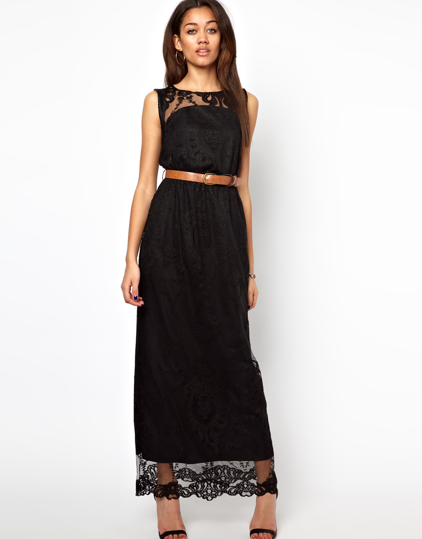 Black Bandeau Dress River Island