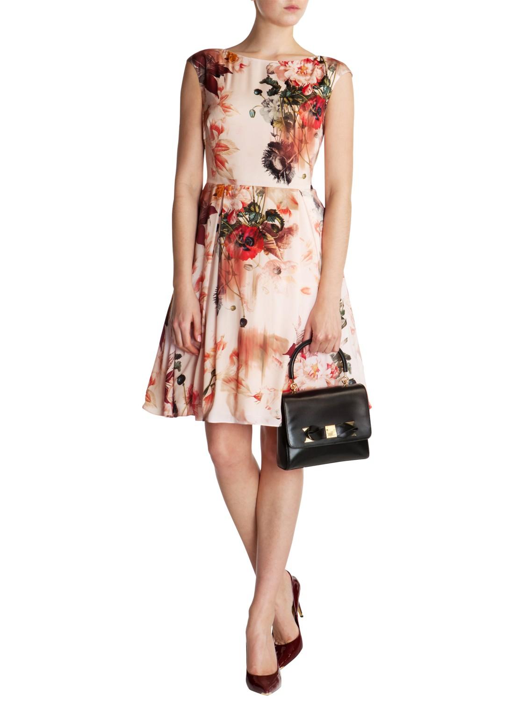 0d16b4f66d Ted Baker Rupin Bloom Dress in Pink - Lyst