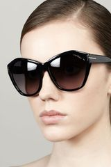 Tom Ford Angelina Squared Cateye Sunglasses Black - Lyst