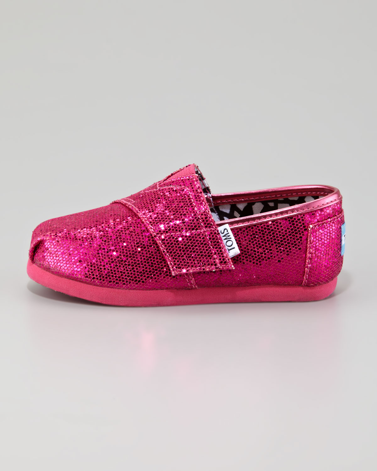 Toms Hot Pink Glitter Shoe Tiny In Pink Lyst