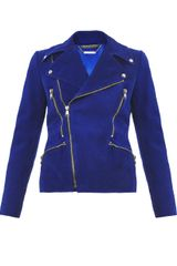 Alexander McQueen Nubuck Leather Biker Jacket - Lyst