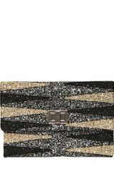 Anya Hindmarch Backgammon Valorie Glitter Fabric Clutch - Lyst