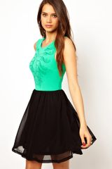 Ax Paris Ax Paris Skater Dress with Print - Lyst