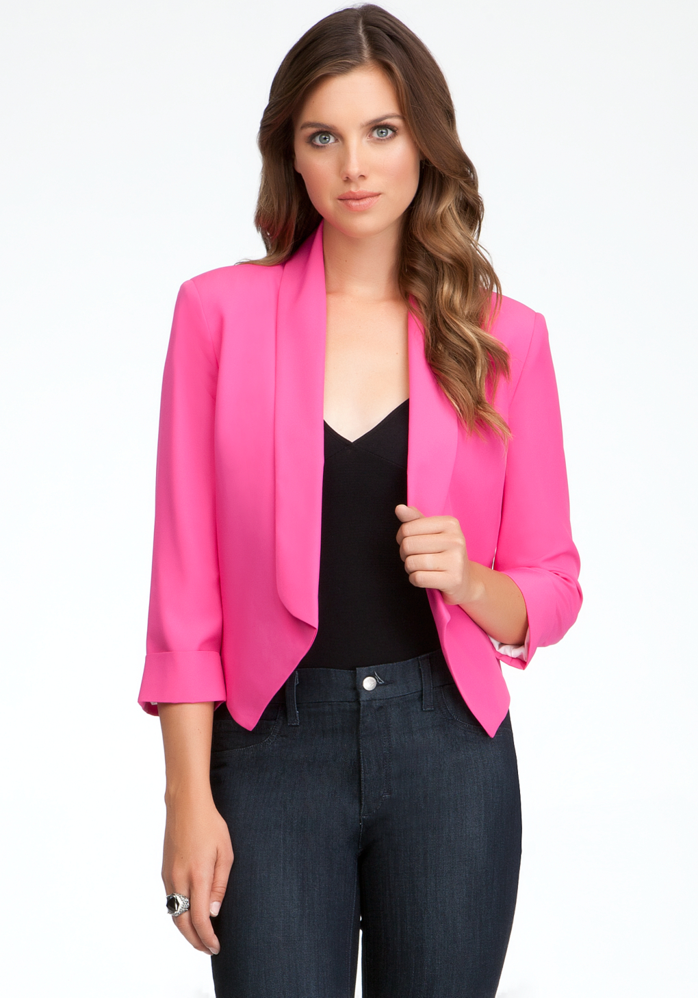 Team a smart blazer jacket with a crisp button up shirt and tailored pants for a seriously slick office look, or style a cropped blazer with a simple party dress and sock ankle boots for a fresh new season look you can take
