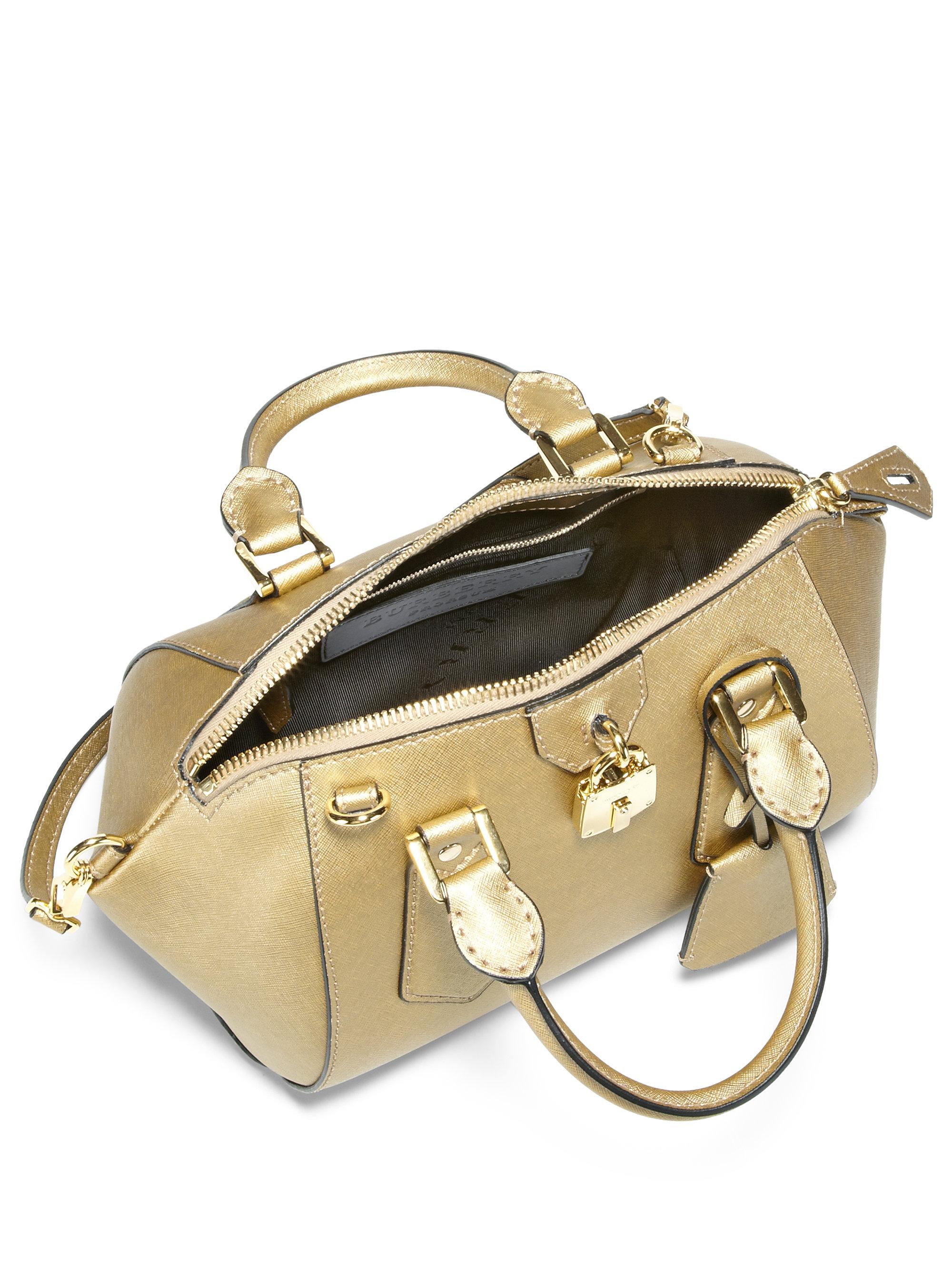 Burberry prorsum Blaze Metallic Satchel Handbag in Metallic | Lyst