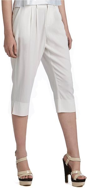 Catherine Malandrino Side Slit Cropped Pants - Lyst
