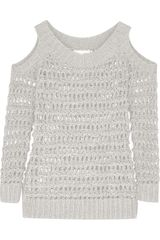 Donna Karan New York Open-knit Cotton-blend Sweater - Lyst