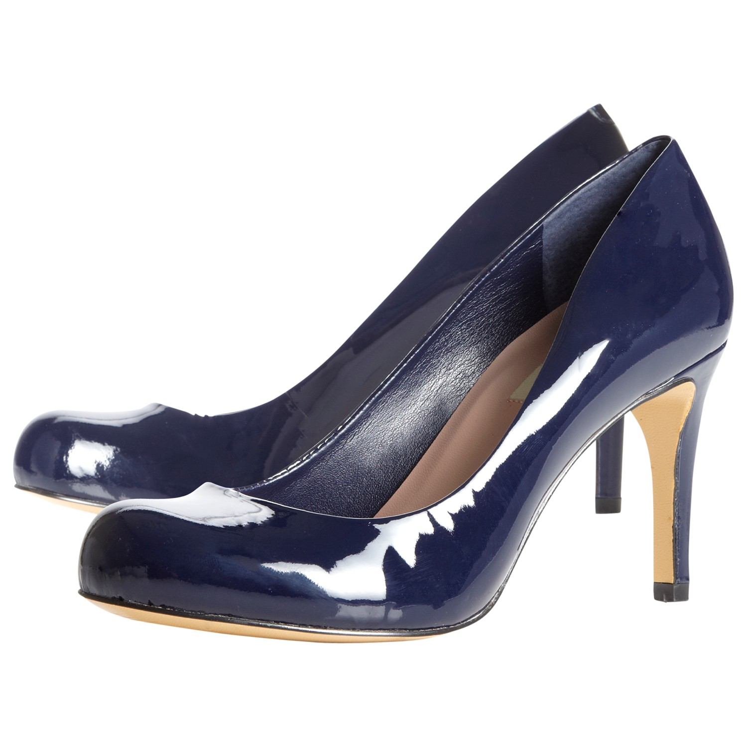 Dune Patent Leather Stiletto Heel Court Shoes in Blue - Lyst