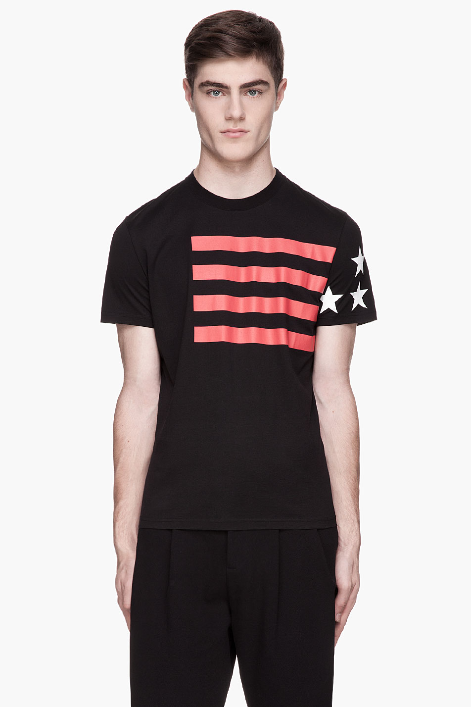 Lyst Givenchy Black Cuban Fit Usa T Shirt In Black For Men